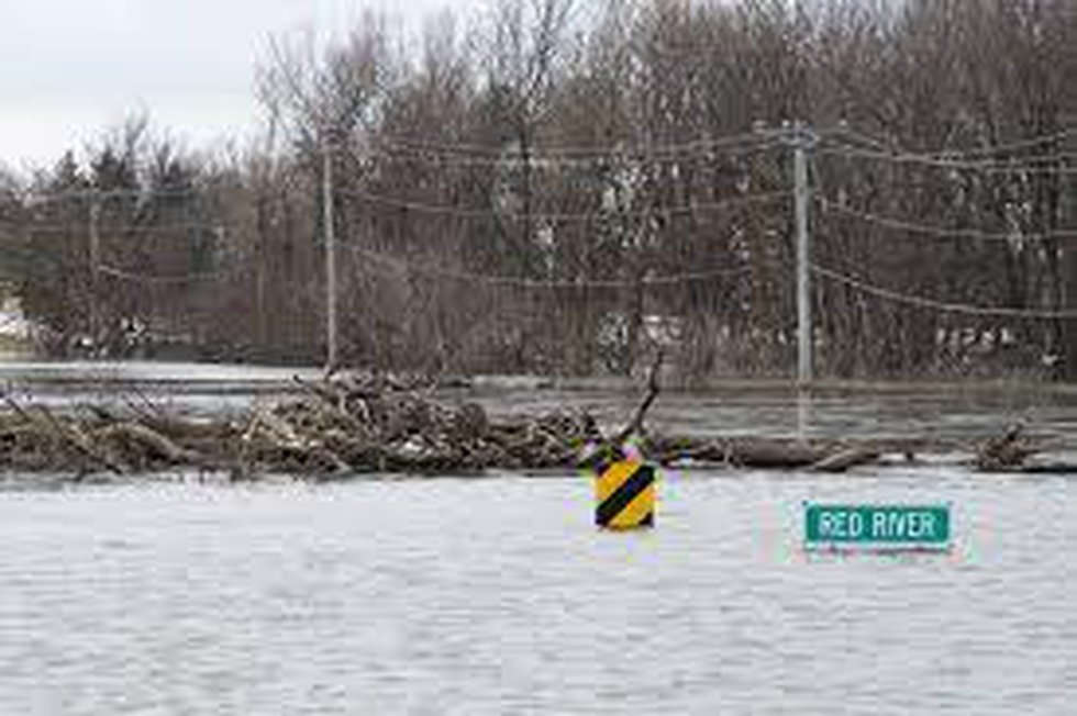 Significant flooding along the Red River
