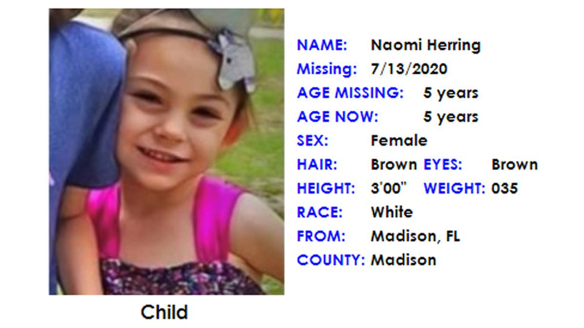 An Amber Alert has been canceled after a missing 5-year-old from Madison, Fla. was found safe, officials said Monday.