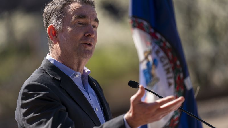 FILE - In this March 30, 2021, file photo, Virginia Gov. Ralph Northam speaks at a news...