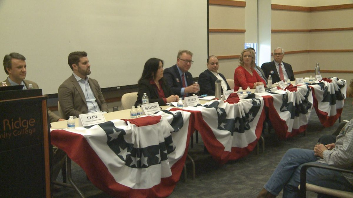 Candidates participated in a forum at Blue Ridge Community College in January.