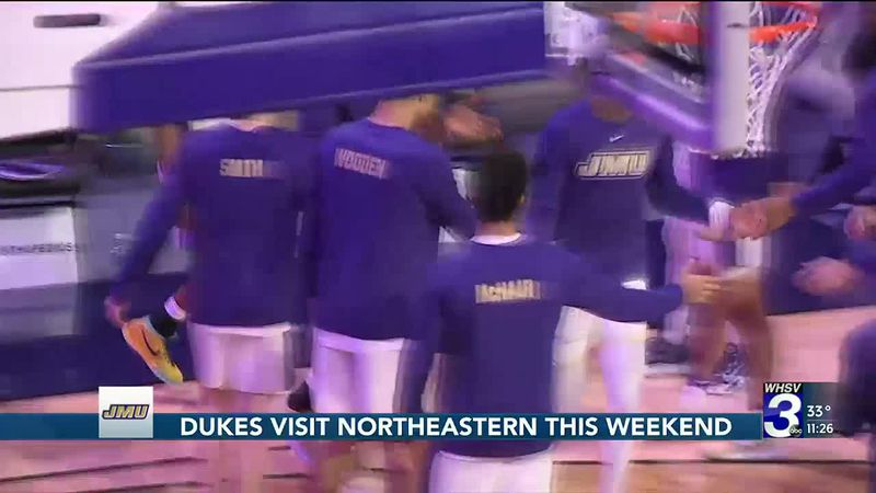Dukes visit Northeastern this weekend