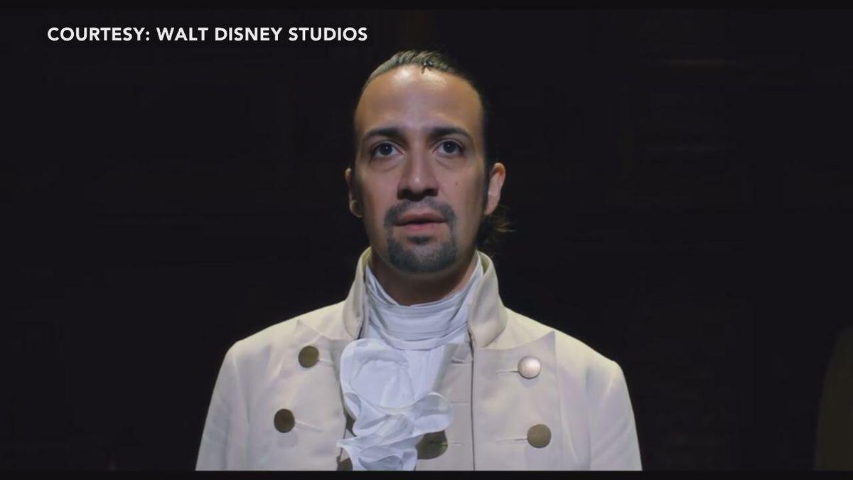 """Lin Manuel Miranda as Alexander Hamilton in the musical """"Hamilton"""""""