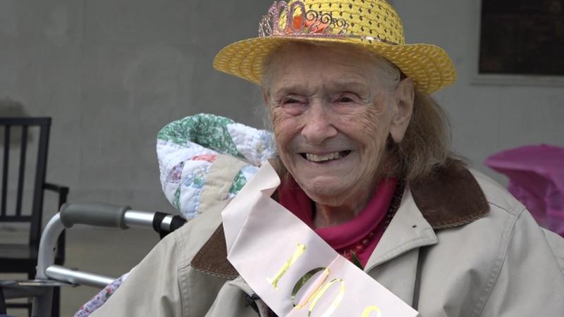 Millie Harman-Duvall celebrates 100 years.