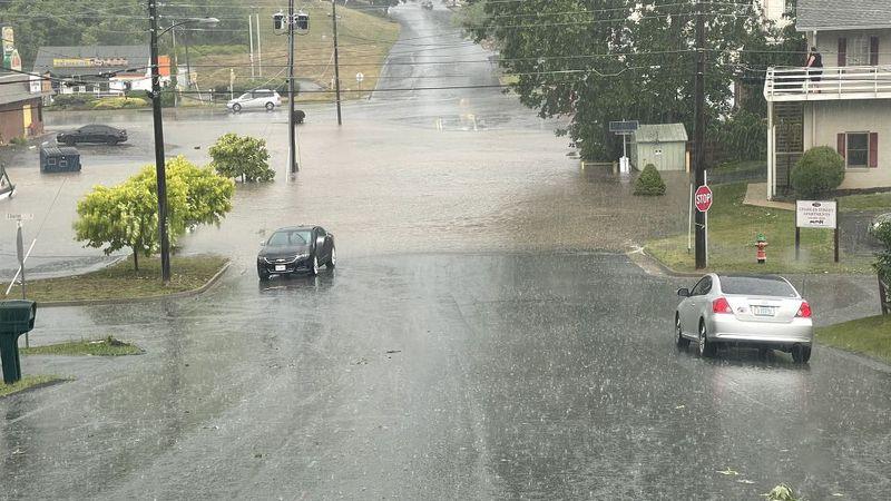 Flooding in Staunton