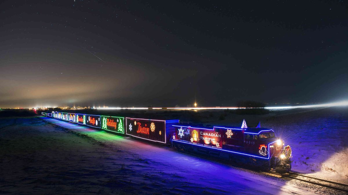File image of Canadian Pacific's Holiday Train that visits the U.S. Northeast and Midwest - not the train which will run in West Virginia.