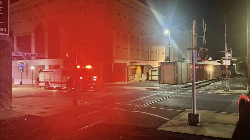 HPD & HFD respond to overnight fire outside of Rockingham County Sheriff's Office.