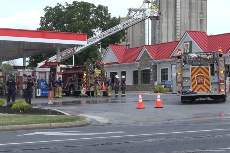 Fire at 7-Eleven on Virginia Ave.