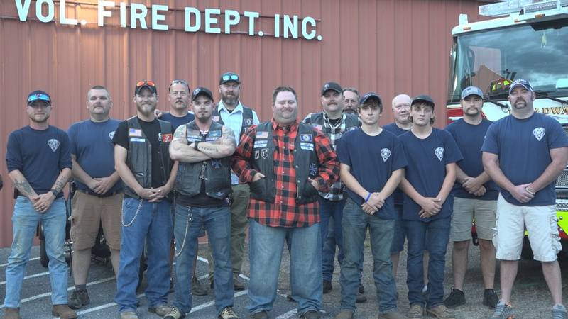 Nonprofit motorcycle club donates to Broadway Fire Dept. in honor of Raven Morgan
