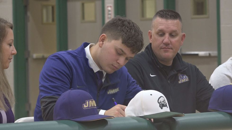 Broadway high school baseball star Bryce Suters has signed to play at JMU.