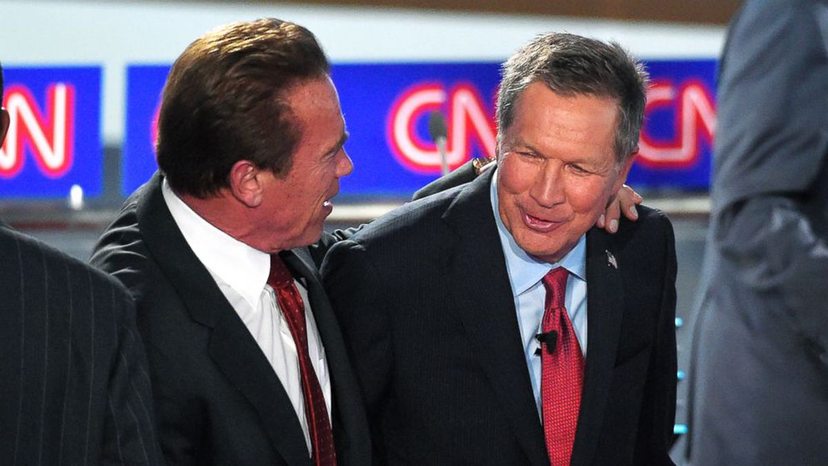 Schwarzenegger Says Kasich Should Run For President In 2020