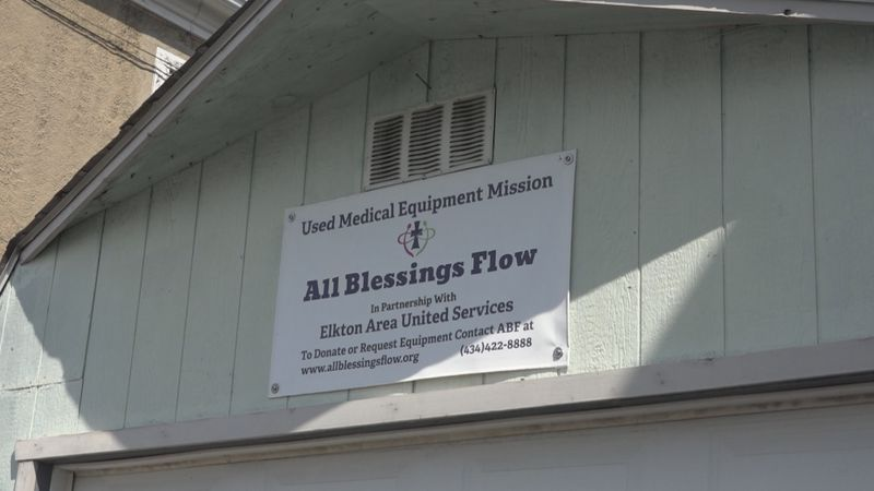 All Blessings Flow in Elkton is located off of W. Spotswood Trial in a small storage building.