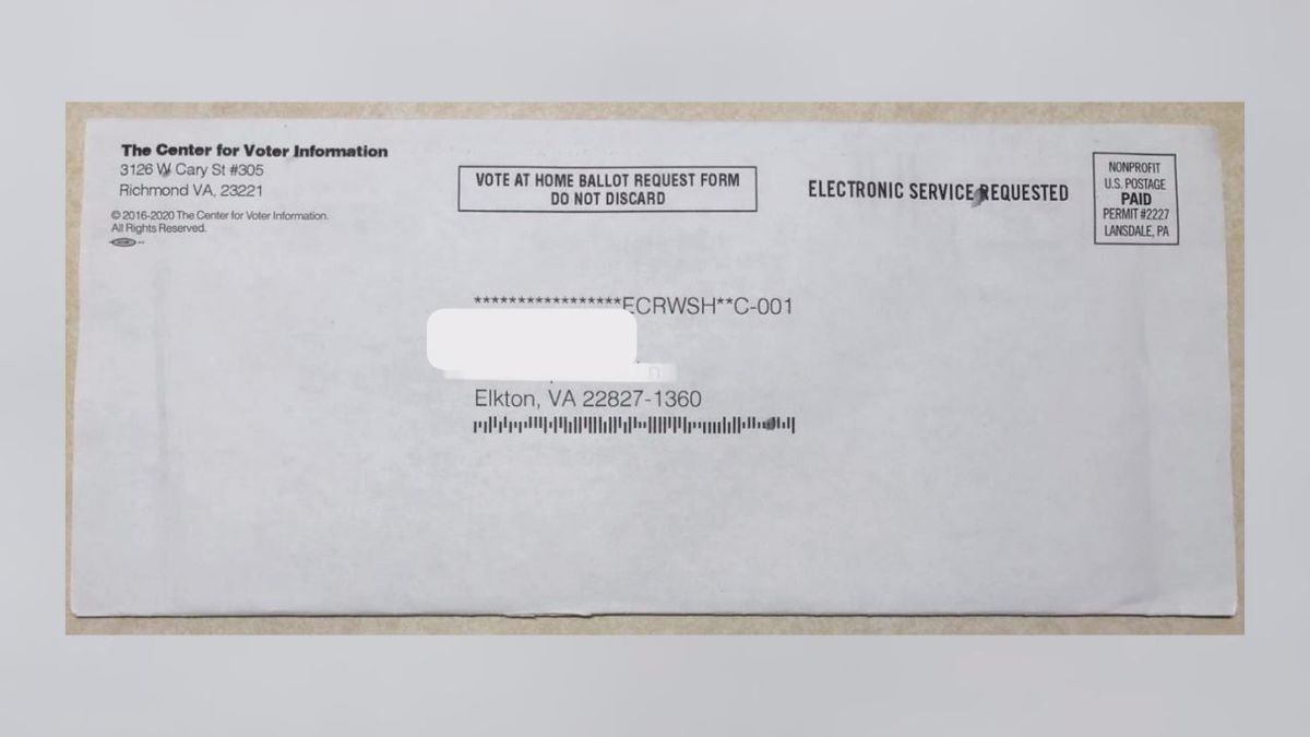 Gooden said you may received this application from a third party organization but it is not associated with Rockingham County's election office.