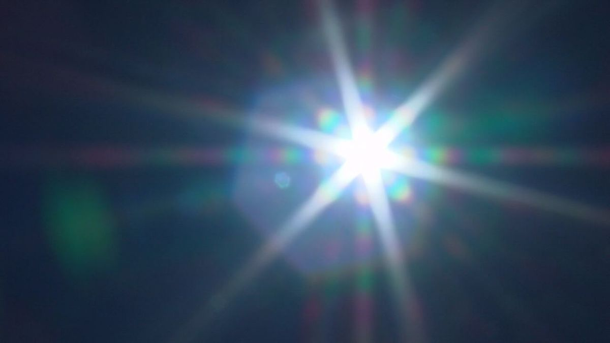 Sun out of focus