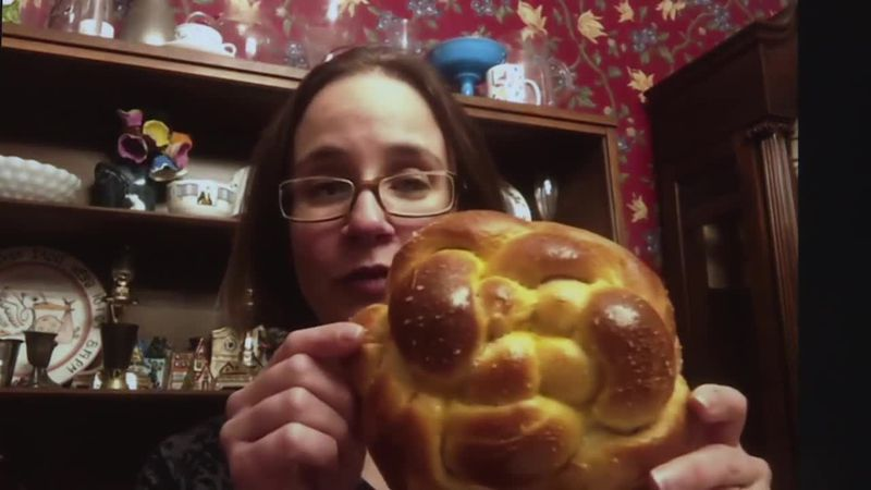 We find out about the Jewish holiday of Rosh Hashanah. A special bread called challah, is a...