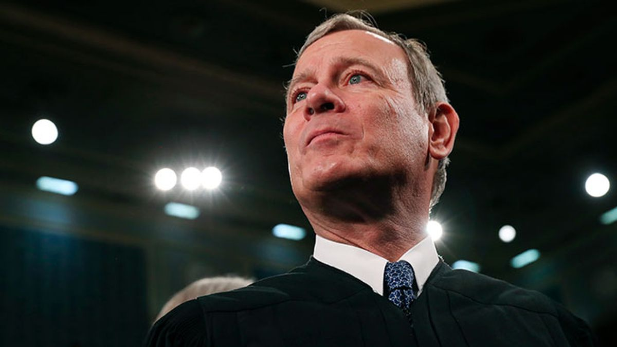 FILE - In this Tuesday, Feb. 4, 2020, file photo, Supreme Court Chief Justice John Roberts arrives before President Donald Trump delivers his State of the Union address to a joint session of Congress on Capitol Hill in Washington. A divided Supreme Court on Friday, May 29, 2020, rejected an emergency appeal by a California church that challenged state limits on attendance at worship services that have been imposed to contain the spread of the coronavirus. Over the dissent of the four more conservative justices, Roberts joined the court's four liberals in turning away a request from the South Bay United Pentecostal Church in Chula Vista, California, in the San Diego area. (Source: Leah Millis/Pool via AP, File)