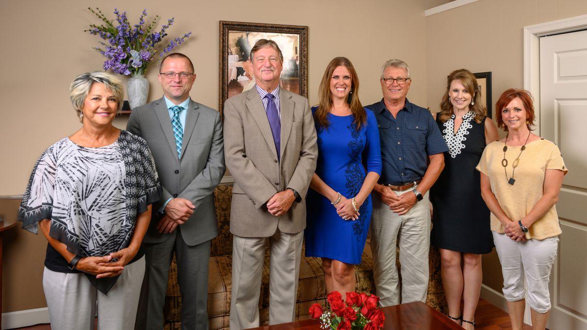 From left: Debbie Brown, Dr. Oskar Scheikl, Steve Smith, Mandy Kinder Leeth, Dr. Steve Brown, Aubrey Urbanowicz, and Kelly May Brown.