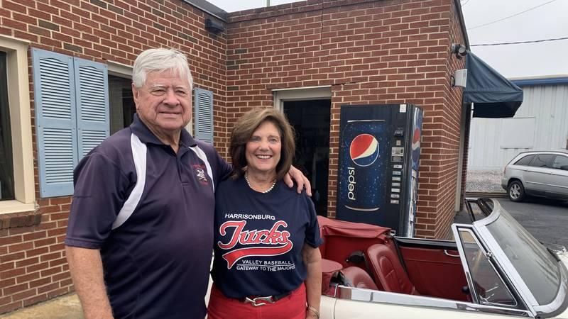 Bob Wease and his wife Teresa outside of Wease Auto Exchange.