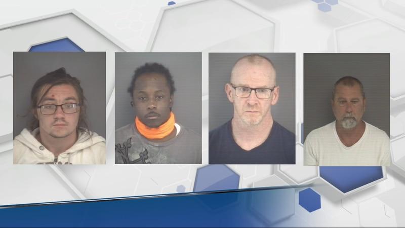 From left to right: Trevor Alan Kathan, Aaron Delonte Ferguson, Patrick Allen White, and Dwayne...