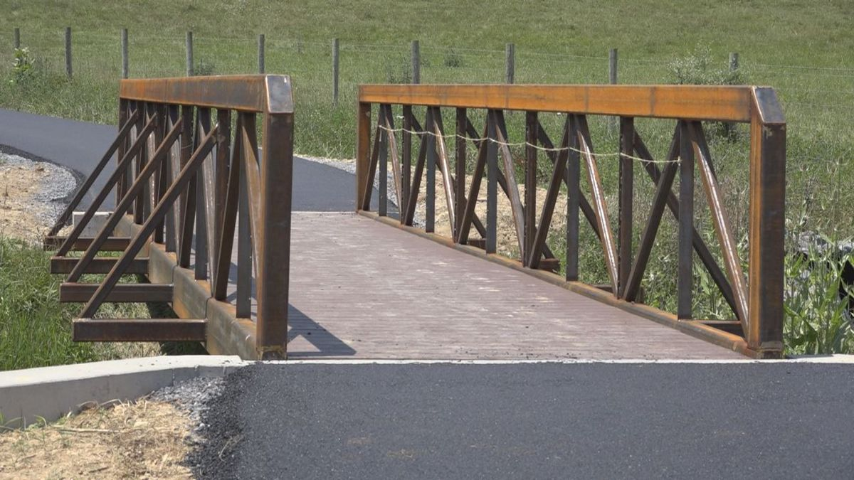 The one mile walking trail will has three bridges crossing over streams that wraps the perimeter of the park.