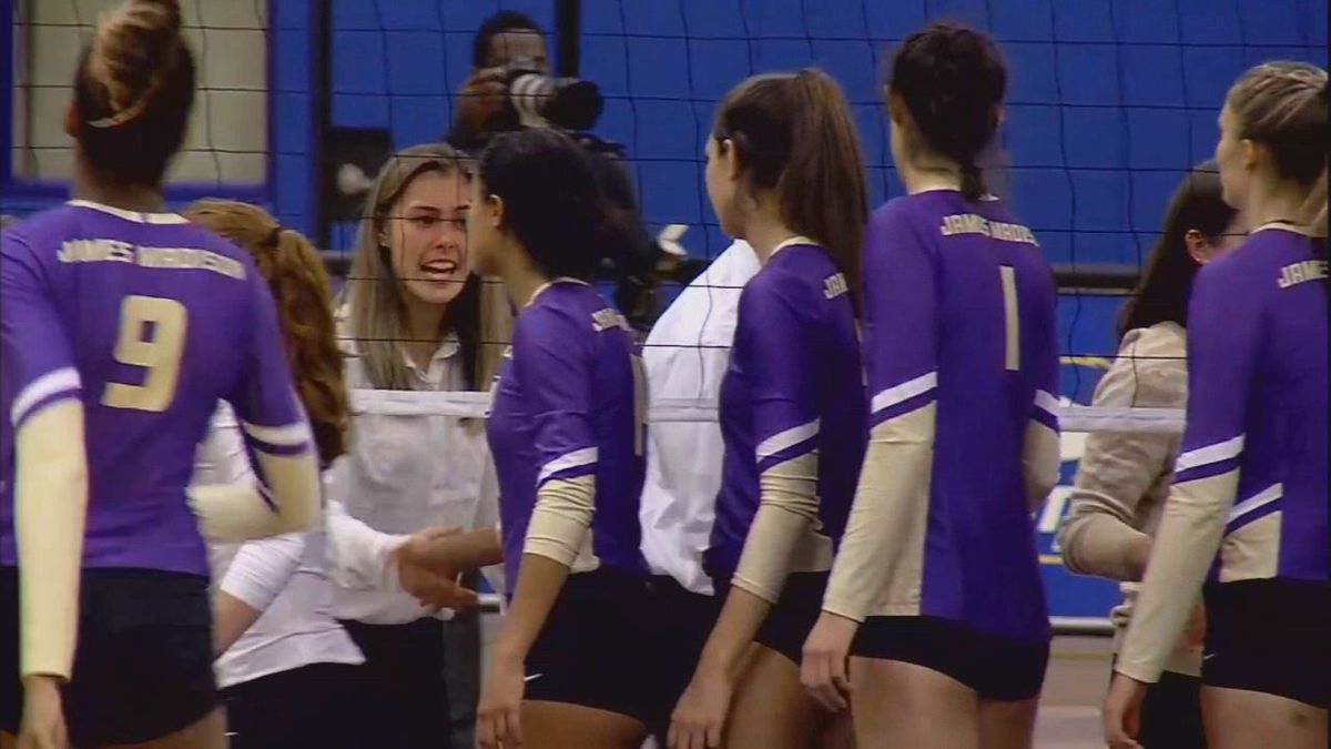 JMU volleyball's season ends with loss to Towson in CAA title game (FloSports/CAA)