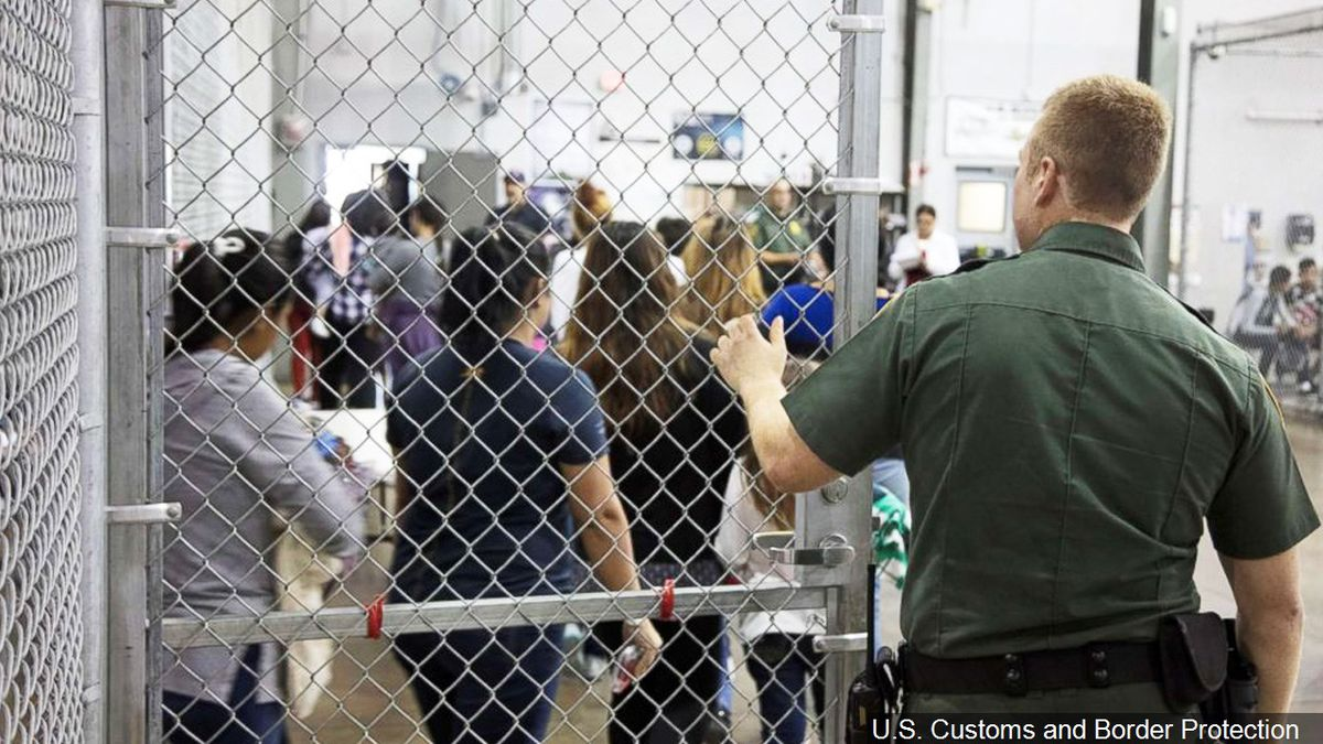 Inside the centralized processing center in McAllen, Texas, Photo Date: 5/23/2018 | Photo: U.S. Customs and Border Protection