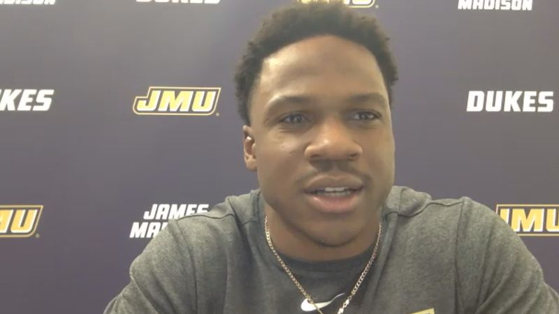 Jawon Hamilton led the Dukes in the backfield in Saturday's win over VMI.