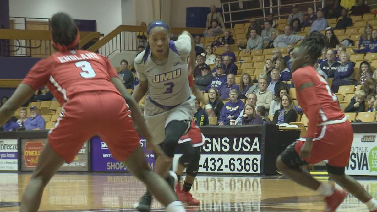 James Madison senior guard Kamiah Smalls is the CAA Player of the Week.