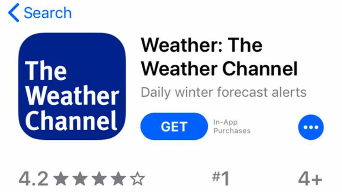 """A mobile phone with The Weather Channel app is seen Friday, Jan. 4, 2019. Los Angeles City Attorney Michael Feuer said Friday that owners of The Weather Channel app, one of the most popular mobile weather apps, used it to track people's every step and profit off that information. Feuer said the company misled users of the popular app to think their location data will only be used for personalized forecasts and alerts. A spokesman for app owner IBM Corp. says it's been clear about the use of location data and will vigorously defend its """"fully appropriate"""" disclosures. (AP Photo/Brian Melley)"""