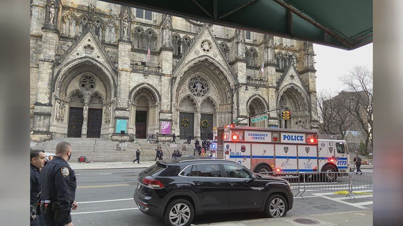 Shooting at Cathedral of St. John the Divine, New York City.