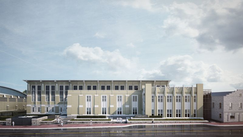 Elevation of VMI's planned aquatic center.
