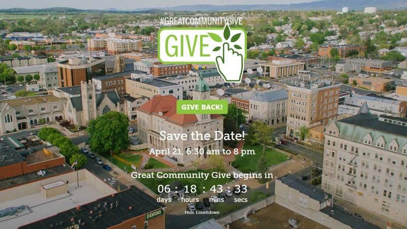 The Great Community Give hopes to raise $1 million for local nonprofits.