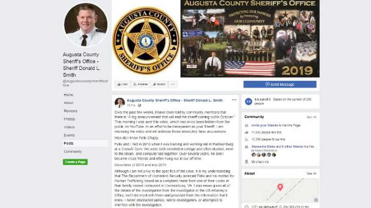 Screenshot of ACSO Facebook page.   Credit: Augusta County Sheriff's Office.
