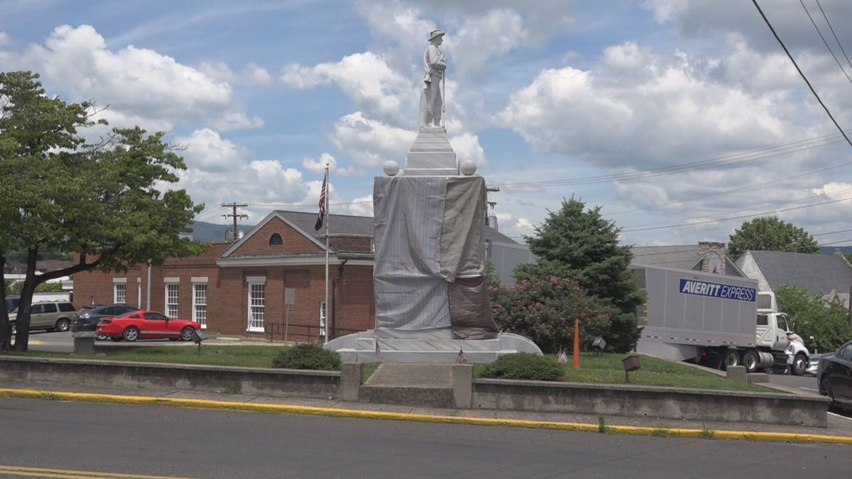 Town officials believe the Virginia Historical Society are the owners of this statue on the...