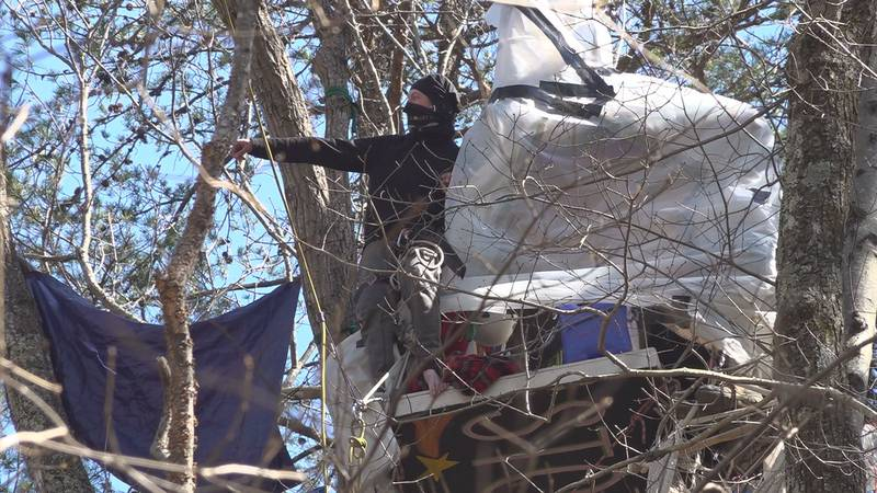 Tree sitters in Montgomery County continue their blockade of the Mountain Valley Pipeline