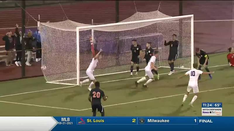 JMU men's soccer defeats UVA in double overtime