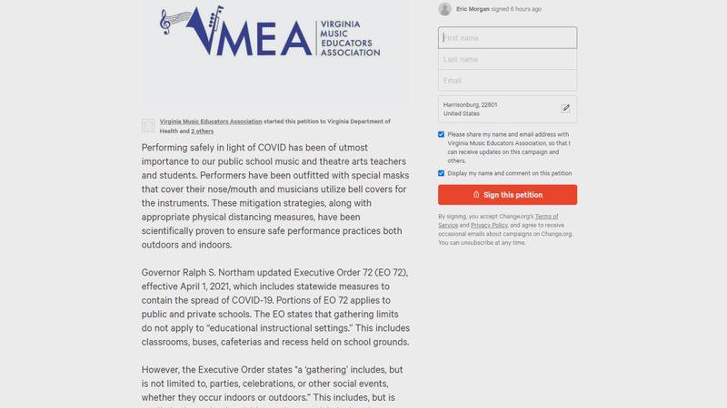 Fine Arts educators request Virginia to adjust guidelines