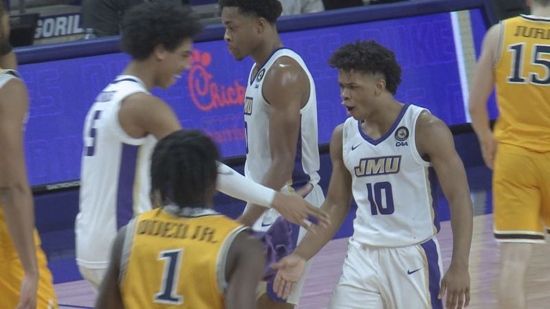 Terrell Strickland's late three-pointer seals JMU's third straight win.