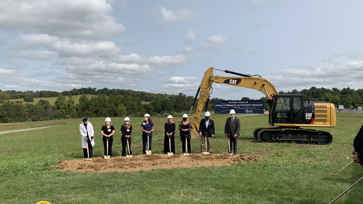 Augusta Health and public officials break ground on the new August Health Outpatient Pavilion.