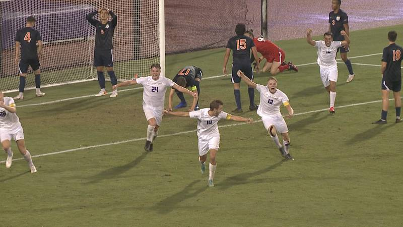 The James Madison men's soccer team claimed a dramatic win over Virginia Tuesday night at...
