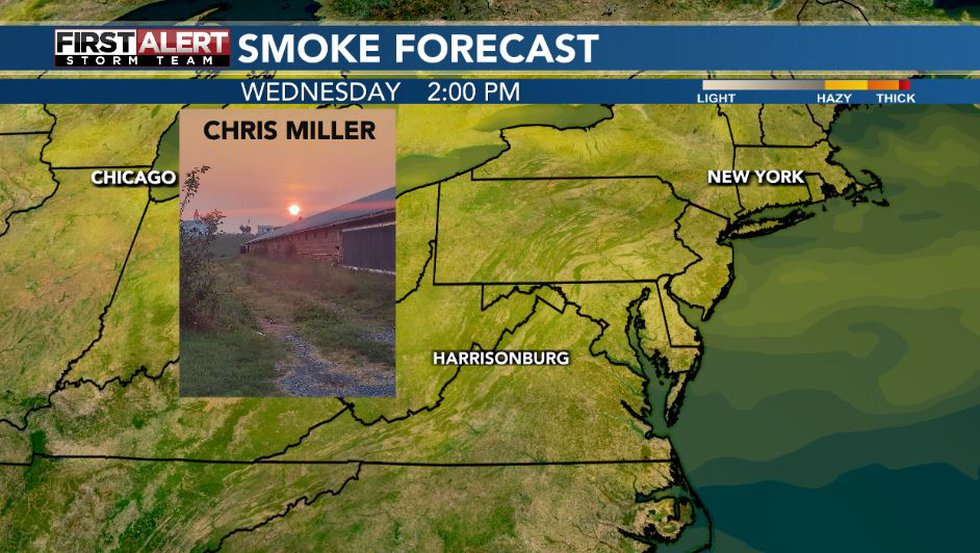 Wildfire smoke in the area again Wednesday