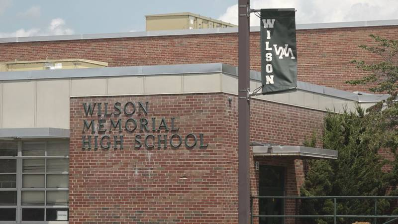 Wilson Memorial High School is the center of much of the back-to-school traffic.