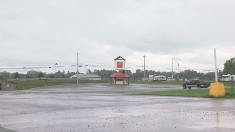 Parking lots across the street from the Wets Virginia State Fairgrounds are the site for a flea...