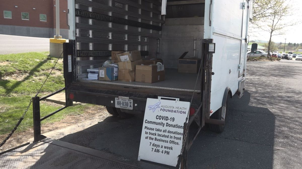 The donation truck is in front of the office building every day from 7 a.m. until 4 p.m. | Credit: WHSV