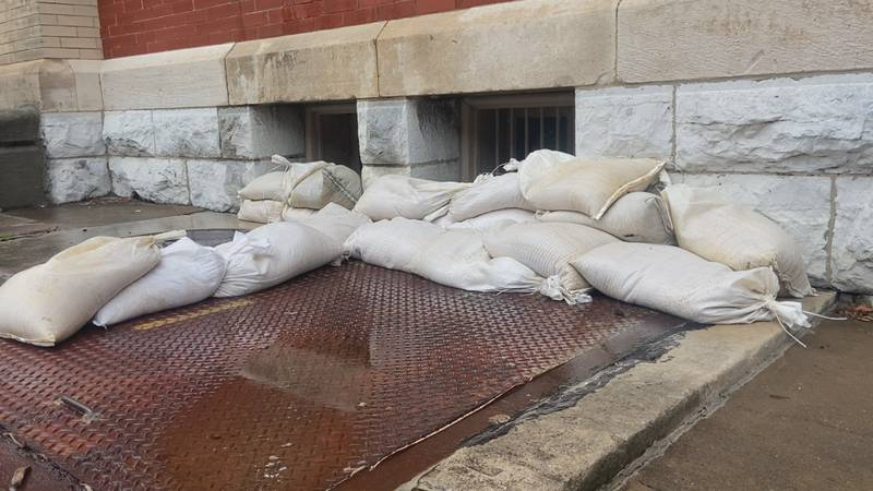 Most of Downtown Staunton is overly aware of how to deal with flooding.