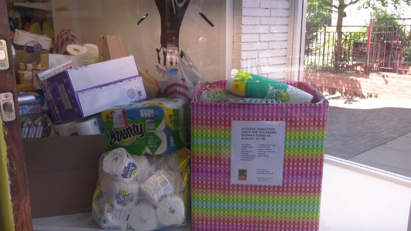 Alakazam Toys collecting donations for incoming Afghan families.