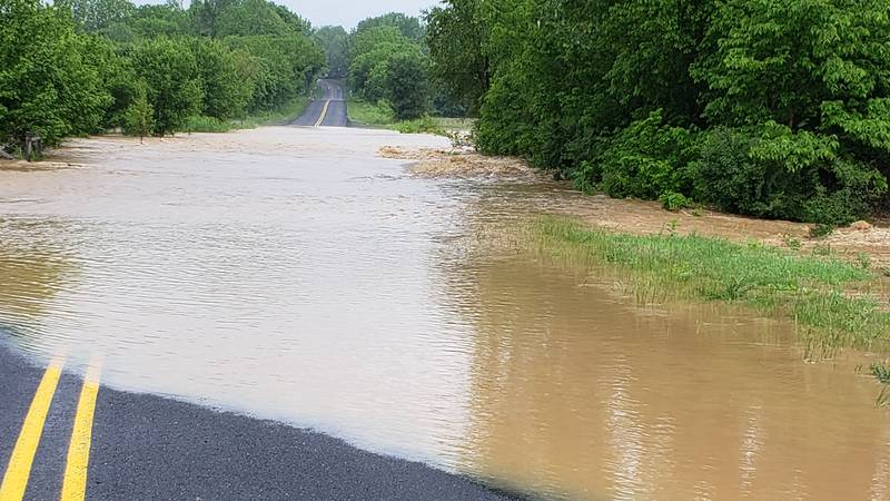 Flooding on Daniel Grey Rd. in Mount Jackson   Photo submitted to WHSV by Johnny