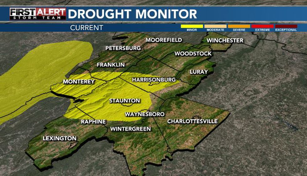 The drought has been erased for much of the area