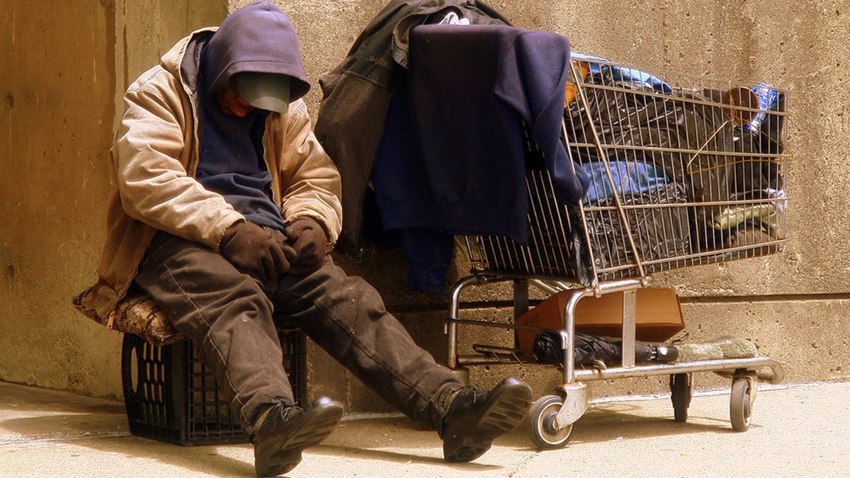PHOTO: Homeless person