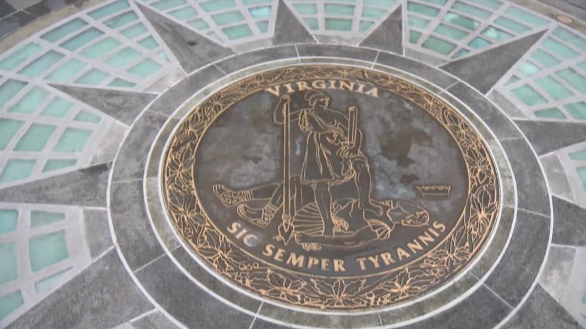 Virginia state seal at Virginia's Capitol