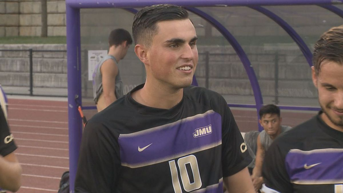JMU men's soccer player Manuel Ferriol has been named the CAA Player of the Year.